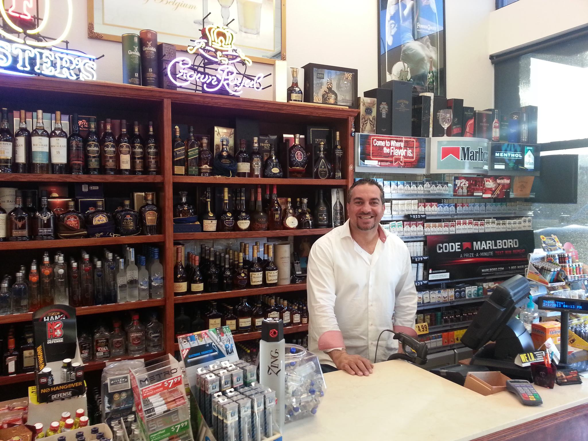 Roy at Counter, Roy's Liquor Store, Summerlin